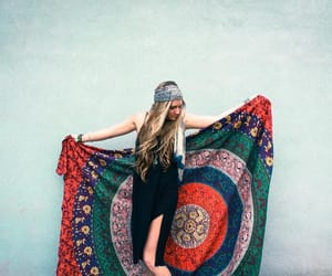 tapestry, hippie tapestry, and mandala tapestry image
