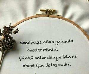 allah, islam, and arkadaş image
