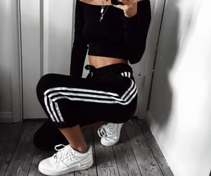 adidas, babe, and model image