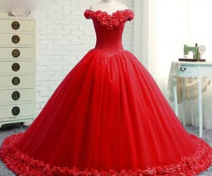 ball gown, quinceanera dress, and prom dress image