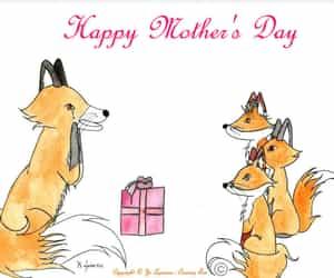 aquarelle, cadeau, and fox image