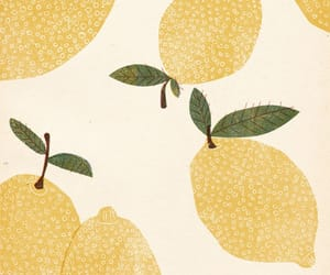 lemon, art, and fruit image