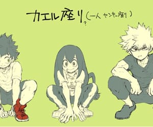 boku no hero academia, tsuyu, and bakugou image