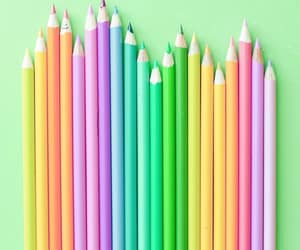 bright, colored pencils, and colorful image