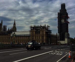 london, taxi, and trip image