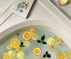 yellow, bath, and aesthetic image
