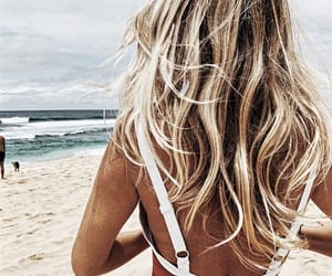 beach, hair, and hairstyle image