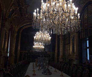 chandelier, architecture, and decor image