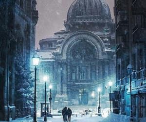 winter, snow, and bucharest image