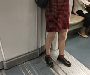 asian, boots, and checkered image
