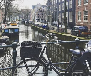 amsterdam, beauty, and bicycle image