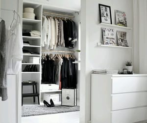closet, white, and clothes image