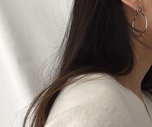 black, earrings, and elegant image