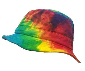 summer fashion, tie dye, and bucket hat image