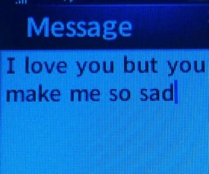 love, sad, and message image
