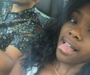 black girl, boyfriend, and couple image