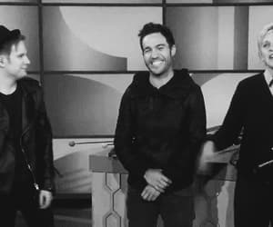 ellen, fall out boy, and laugh image