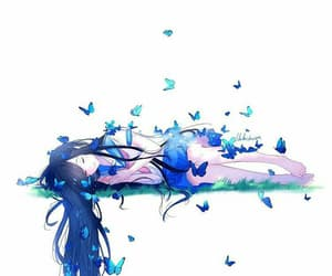 anime, blue, and girl image