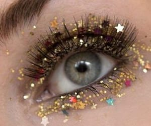 glitter, stars, and eye image
