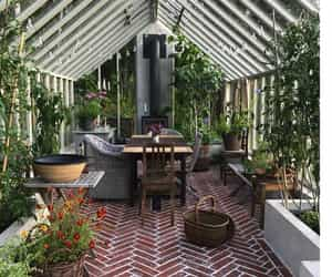 conservatory, inspiration, and inspiring interiors image