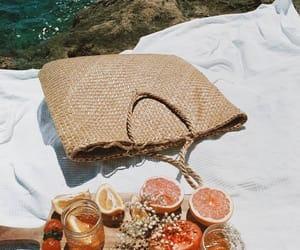 bag, food, and fruit image