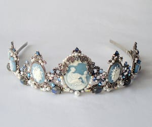 crown, blue, and tiara image
