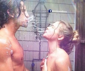couple, cute, and shower image