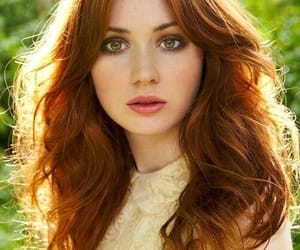 girl, redhead, and green eyes image