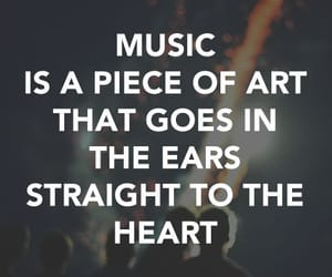 music, heart, and quotes image