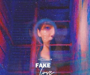 bts, kpop, and fake love image