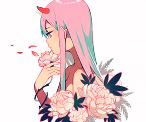 anime, darling in the franxx, and anime girl image
