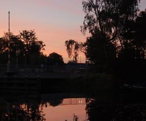 orange, pink, and sunrise image