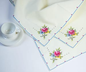 etsy, table setting, and linens image