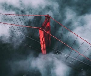 bridge, clouds, and fly image