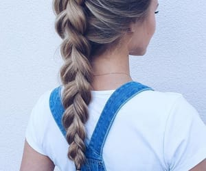 blonde, hairstyle, and summer hair image
