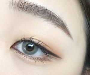 makeup, eyebrows, and eyeliner image