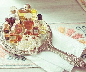perfume, mirror, and vintage image