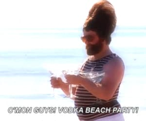 vodka, party, and beach image
