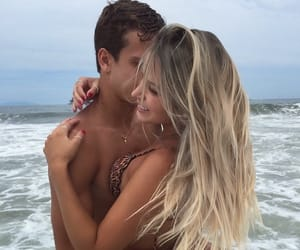 beach, waves, and love image