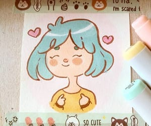 draw, drawing, and kawaii image