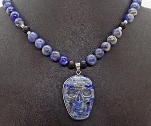 beaded necklace, day of the dead, and etsy image
