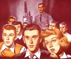 50s, cool, and illustration image