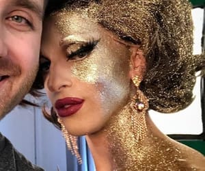 drag queens, glitter, and gold image