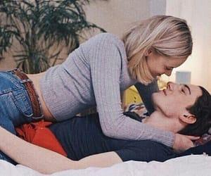 couple, kiss, and skam image