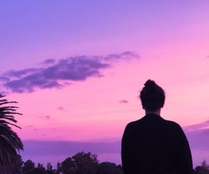 aesthetic, purple, and silhouette image