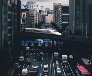 city, cityscape, and train image