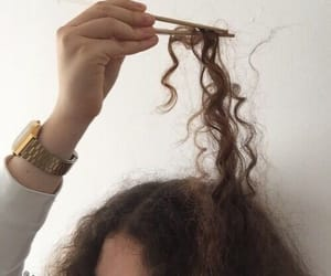 aesthetic, hair, and curly image