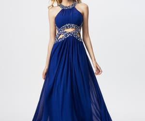 cheap prom dresses, chiffon prom dress, and royal blue prom dress image