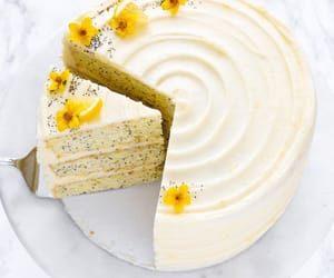 cake, food, and lemon image