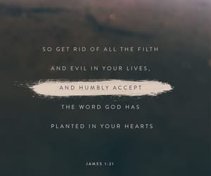 god, bible verse, and james 1:21 image